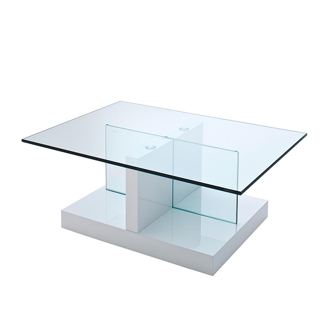 Lola salontafel wit hoogglans met glazen tafelblad home for Aspect design