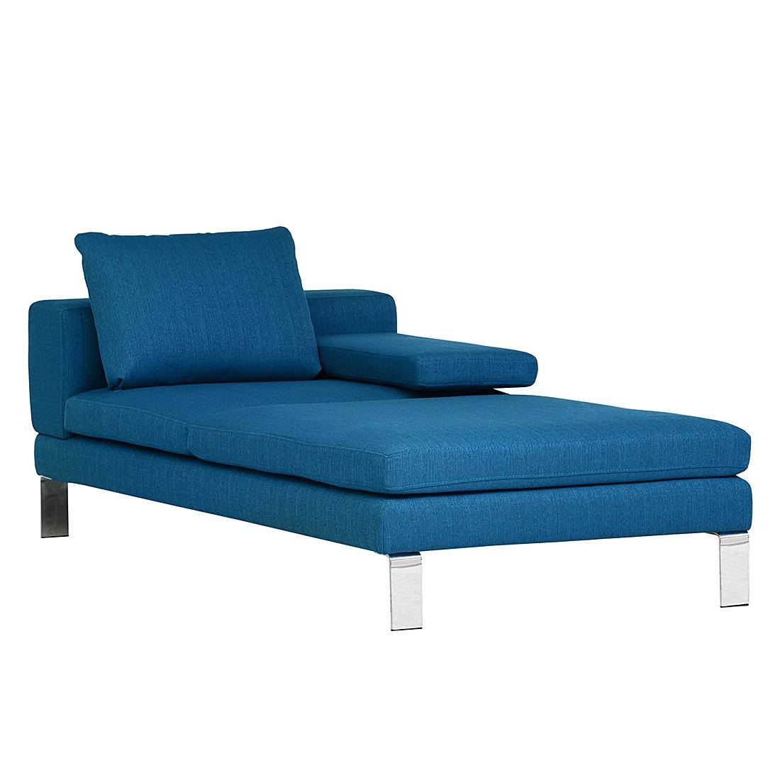 Longchair Siny – Webstoff Blau – Armlehne davorstehend links, loftscape online kaufen