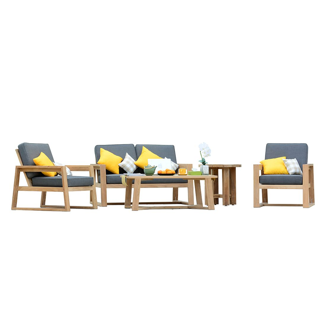 Ensemble Lounge Seattle Garden 6 L Ments Teck Massif