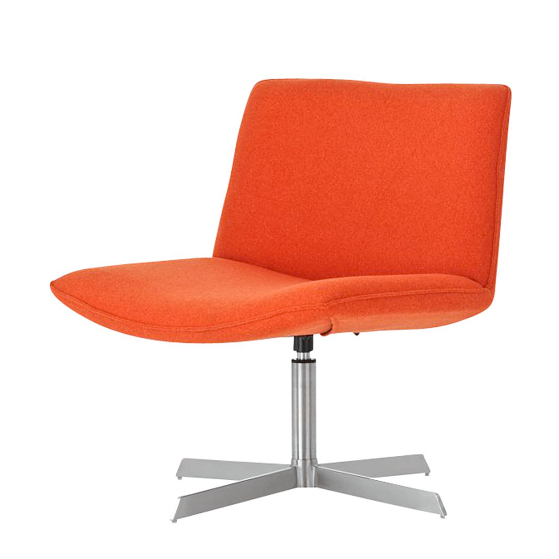 Loungesessel Lugano – Orange -Stoff/Edelstahl, CLP günstig