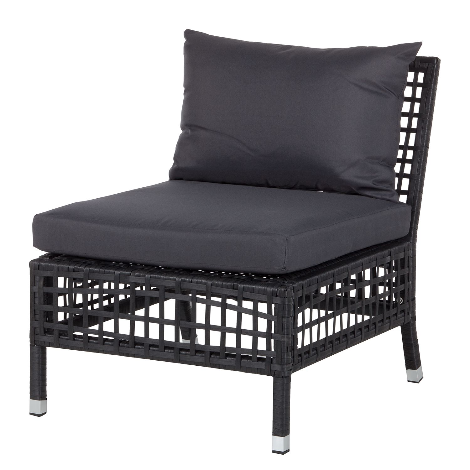 loungesessel nuoro rattan metall anthrazit kings garden online bestellen. Black Bedroom Furniture Sets. Home Design Ideas
