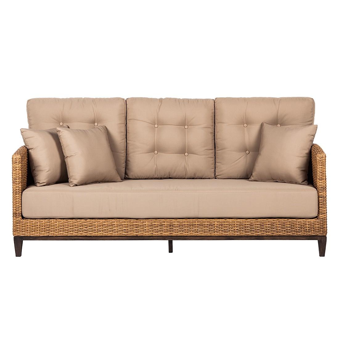 loungesofa cassale 3 sitzer polyrattan hellbraun chateau garden kaufen. Black Bedroom Furniture Sets. Home Design Ideas