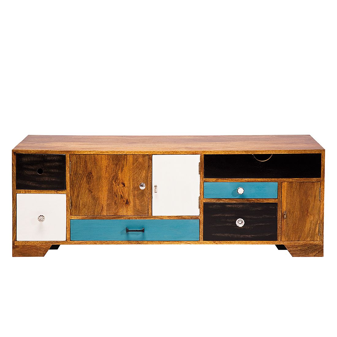 lowboard babalou mango massiv 3 t rig mit 6 schubladen. Black Bedroom Furniture Sets. Home Design Ideas