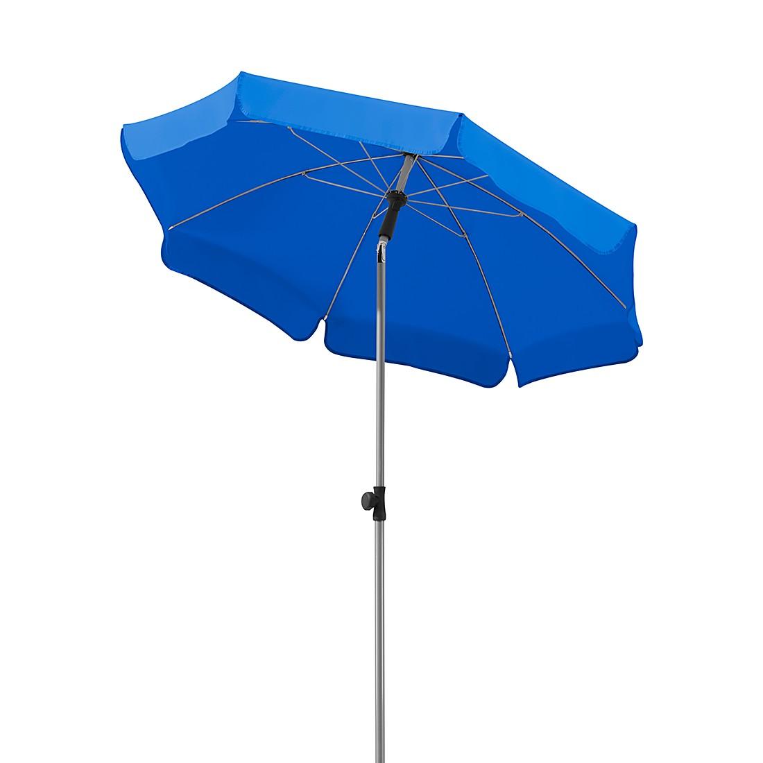 Lugano 150 Sonnenschirm - Stahl/Polyester - Silber/Royalblau, Schneider Schirme