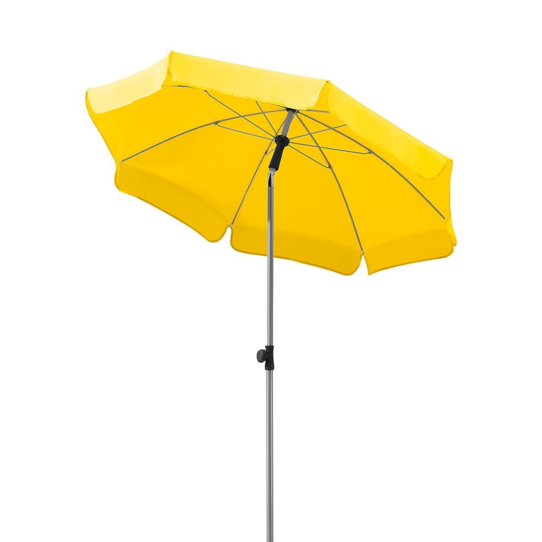 Lugano 150 Sonnenschirm - Stahl/Polyester - Silber/Zitrus, Schneider Schirme