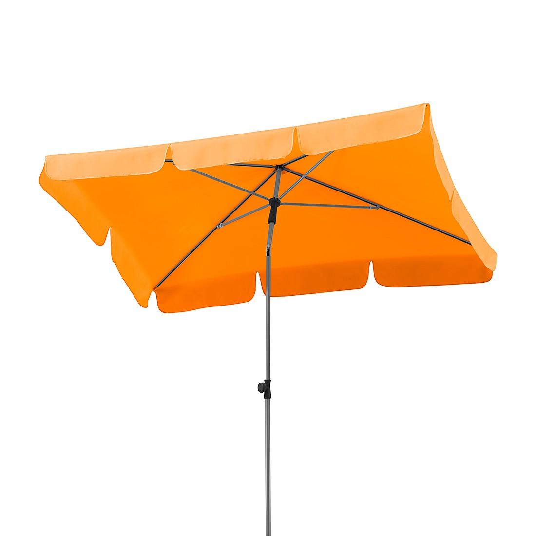 Lugano 180x120 Sonnenschirm - Stahl/Polyester - Silber/Mandarine, Schneider Schirme