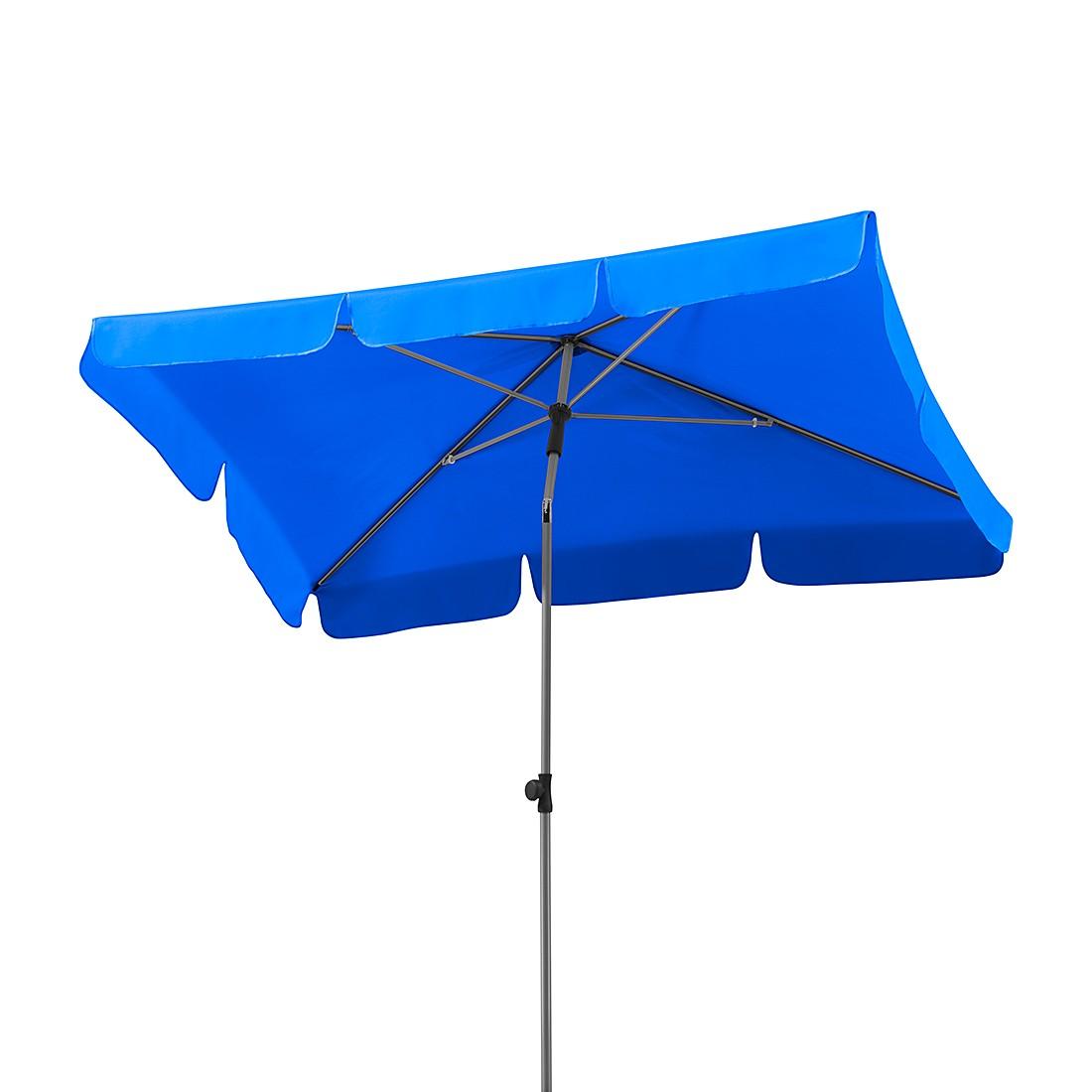 Lugano 180x120 Sonnenschirm - Stahl/Polyester - Silber/Royalblau, Schneider Schirme