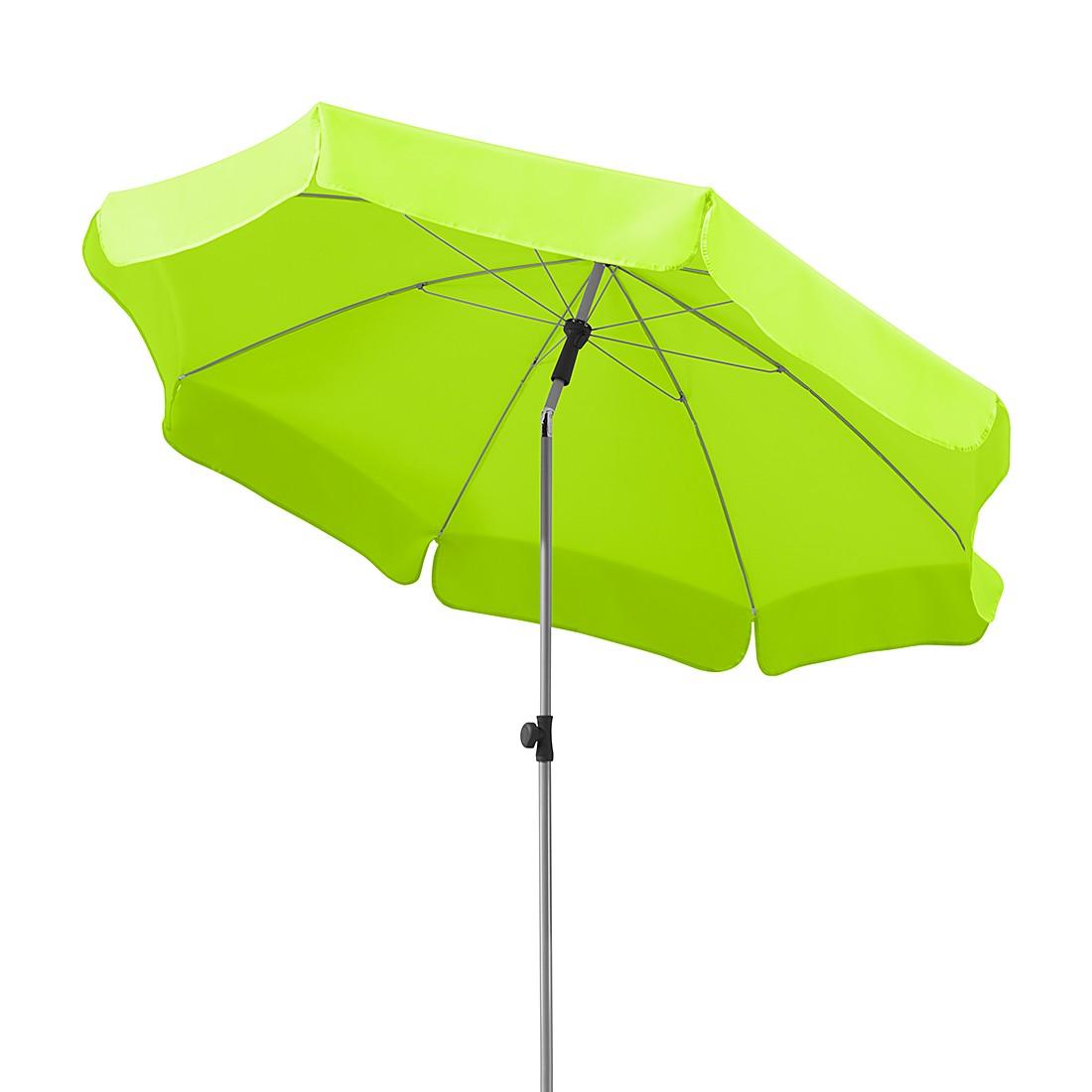 Lugano 200 Sonnenschirm - Stahl/Polyester - Silber/ Apfelgrün, Schneider Schirme