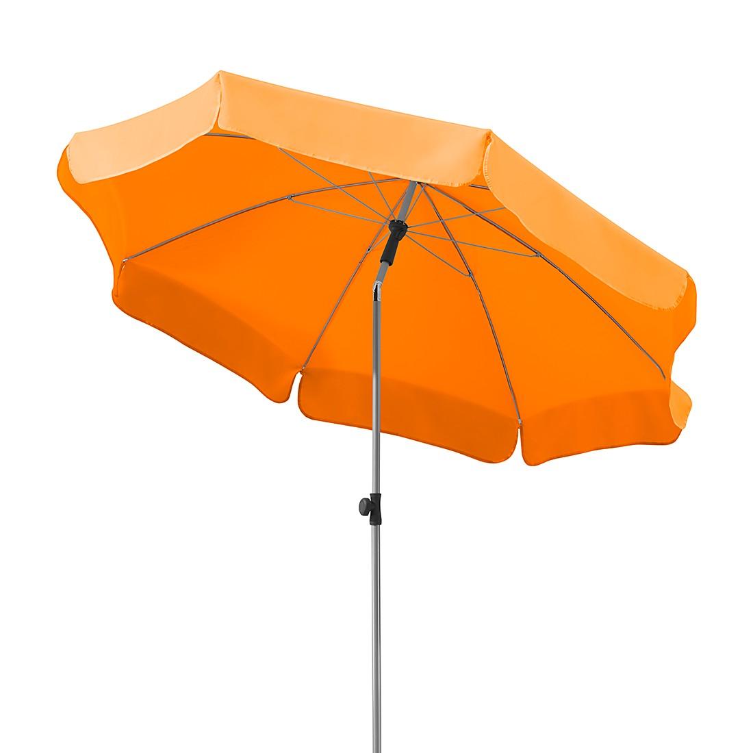 Lugano 200 Sonnenschirm - Stahl/Polyester - Silber/Mandarine, Schneider Schirme