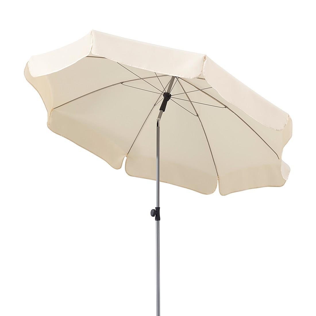 Lugano 200 Sonnenschirm - Stahl/Polyester - Silber/Natur, Schneider Schirme