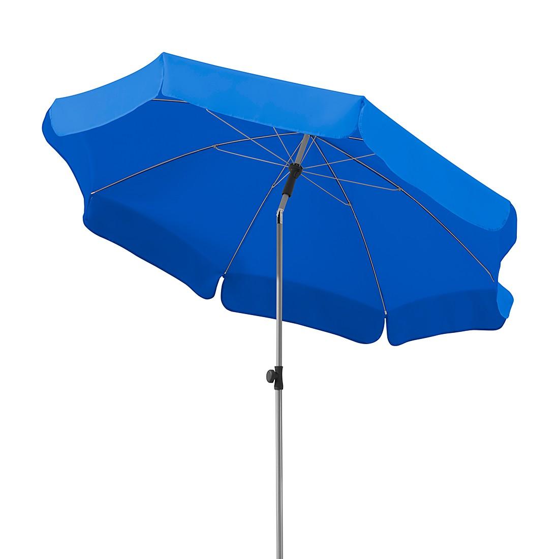 Lugano 200 Sonnenschirm - Stahl/Polyester - Silber/Royalblau, Schneider Schirme