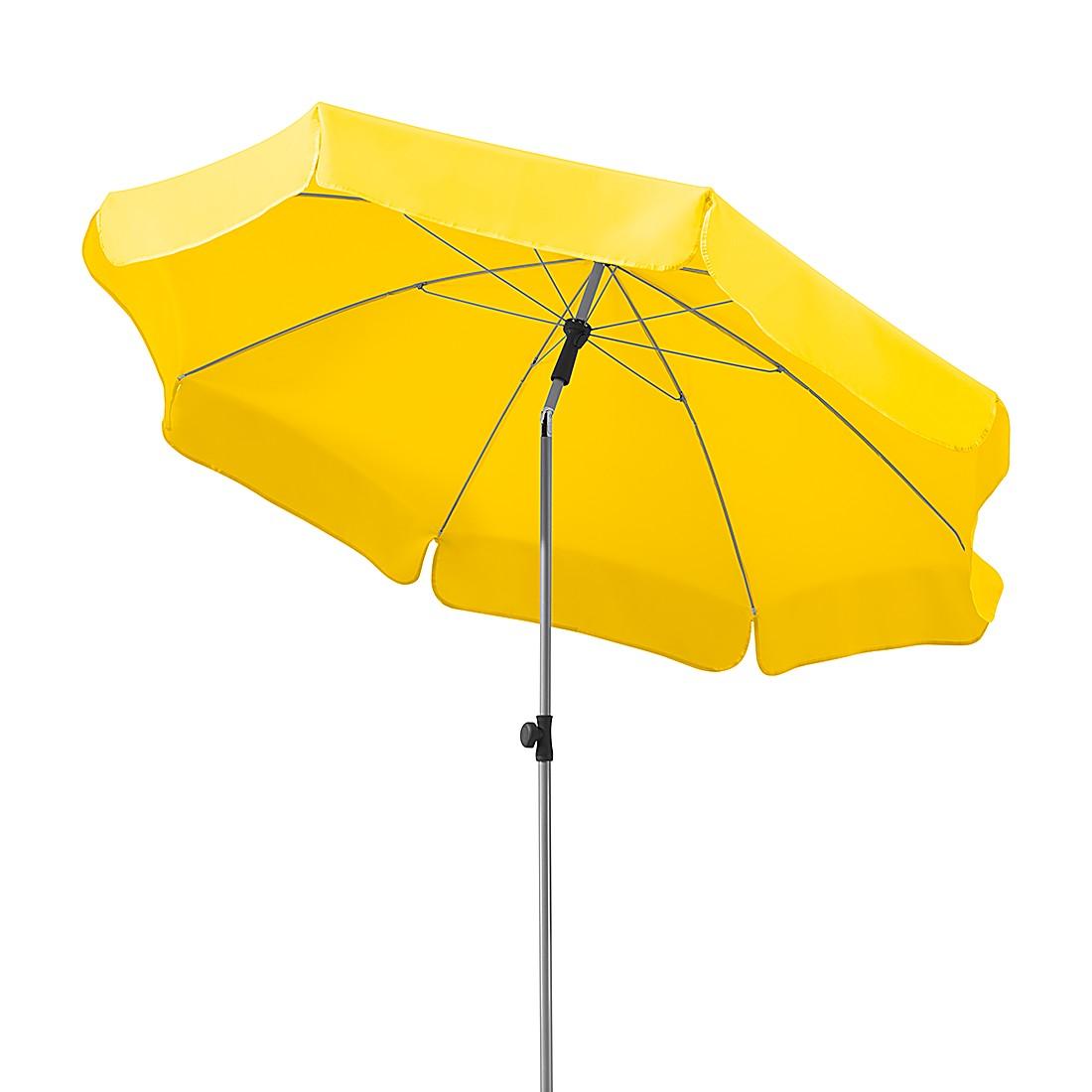 Lugano 200 Sonnenschirm - Stahl/Polyester - Silber/Zitrus, Schneider Schirme