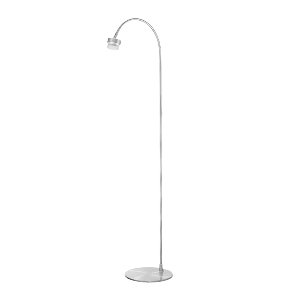 EEK A+, Stehleuchten-Armatur 1-flg. Nickel matt-verchromt - M6 Licht / Medium1-LED, Fischer Leuchten