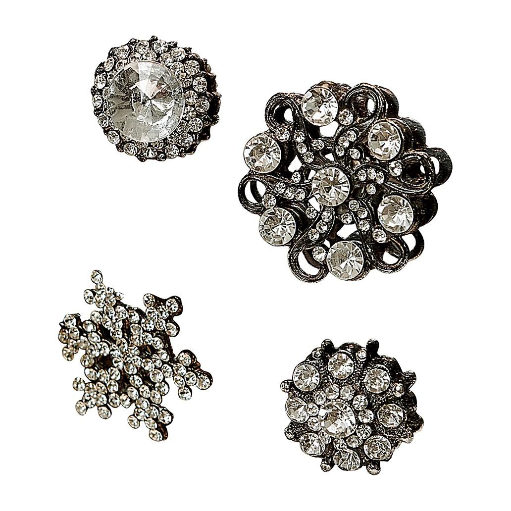 Magnete Brilliant Magnets (4er-Set) – Eisen/Glas – Antiksilber, Loberon bestellen