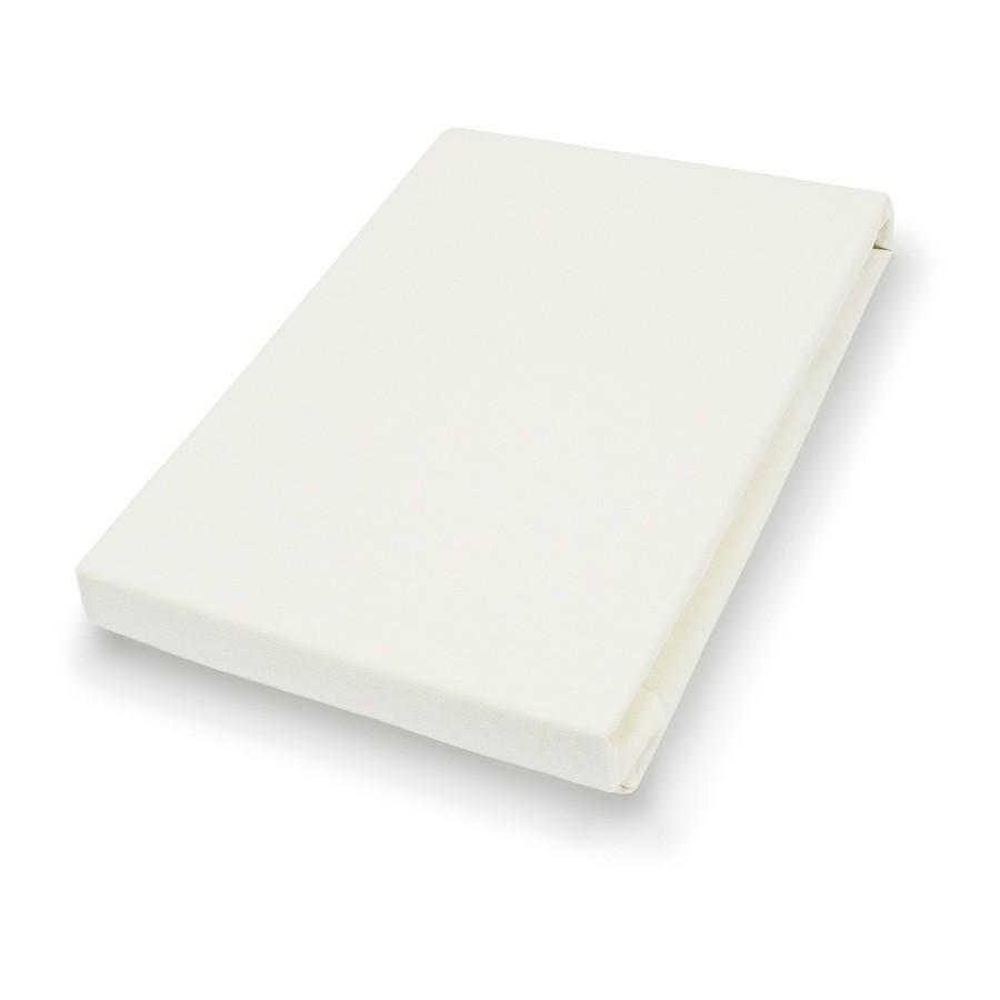 Mako-Feinjersey-Spannbetttuch – Creme – 120 x 200 cm, vario online bestellen