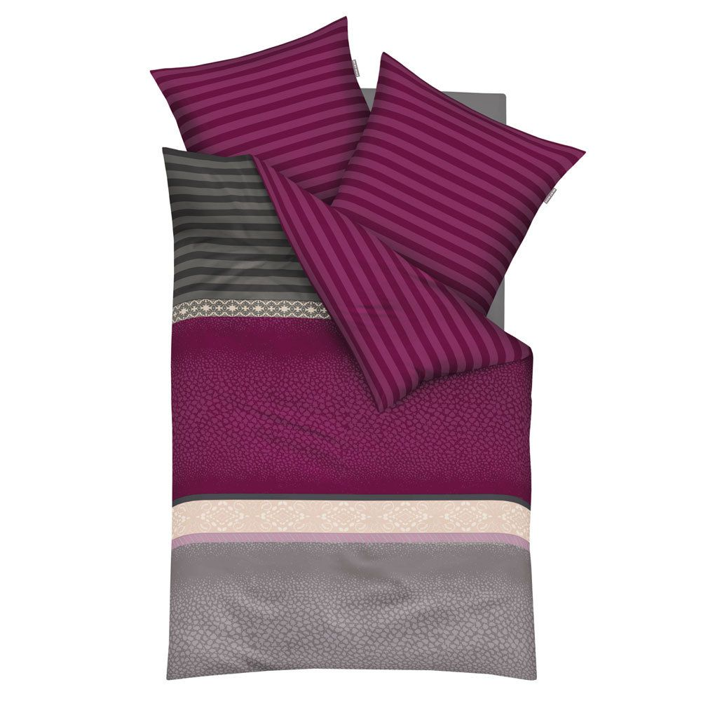 Mako-Satin Bettwäsche Globetrotter – Baumwolle – Violett – 135×200 cm + 80×80 cm, kaeppel günstig online kaufen