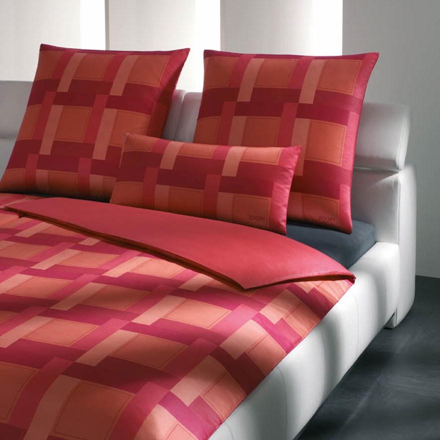 Mako-Satin Bettwäsche New Squares – 100% Baumwolle – Mehrfarbig – 135 x 200 cm, Joop online bestellen