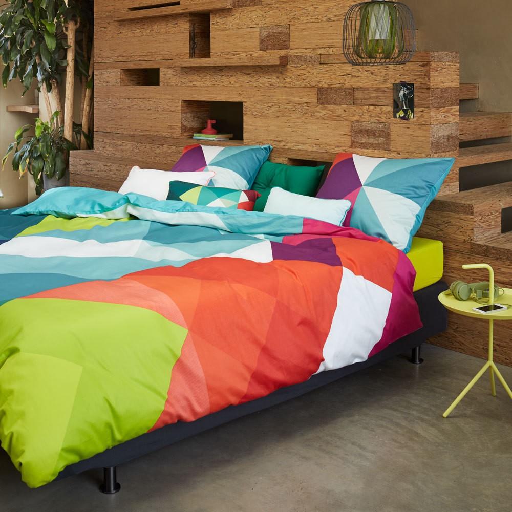 Mako-Satin Bettwäsche Sjors multi – 100% Baumwolle Mehrfarbig – 135×200 cm + 80 x 80 cm, Essenza günstig kaufen