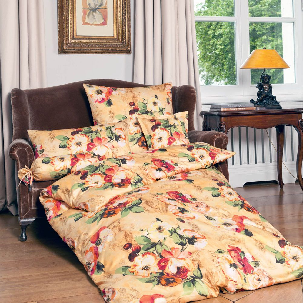 mako satin villa fiori terra cremegold 4440 100. Black Bedroom Furniture Sets. Home Design Ideas