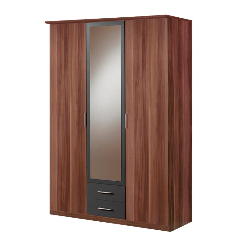 dreht renschrank malaga franz sisch nussbaum anthrazit schrankbreite 180 cm 4 t rig 2. Black Bedroom Furniture Sets. Home Design Ideas