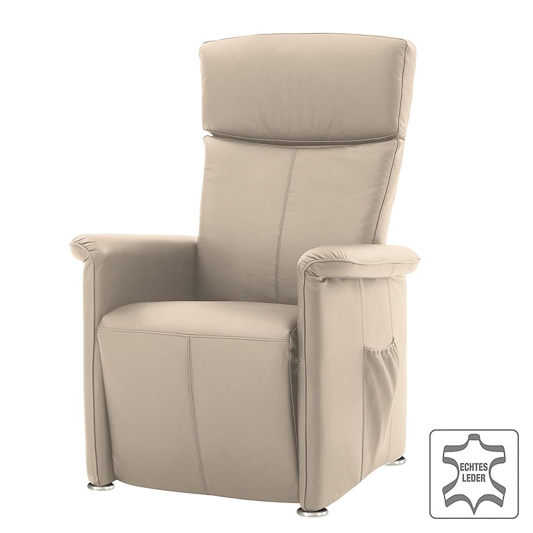 massagesessel broderick echtleder mechanische verstellung beige nuovoform g nstig online. Black Bedroom Furniture Sets. Home Design Ideas