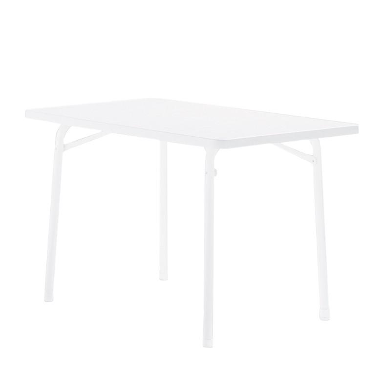 Gartenklapptisch Houma - Marmordekor/Weiß - 115 x 72 x 70 cm, Sieger