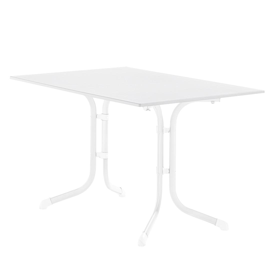 Klapptisch Luling - Weiß/Marmorweiß - 120 x 73 x 80 cm, Sieger
