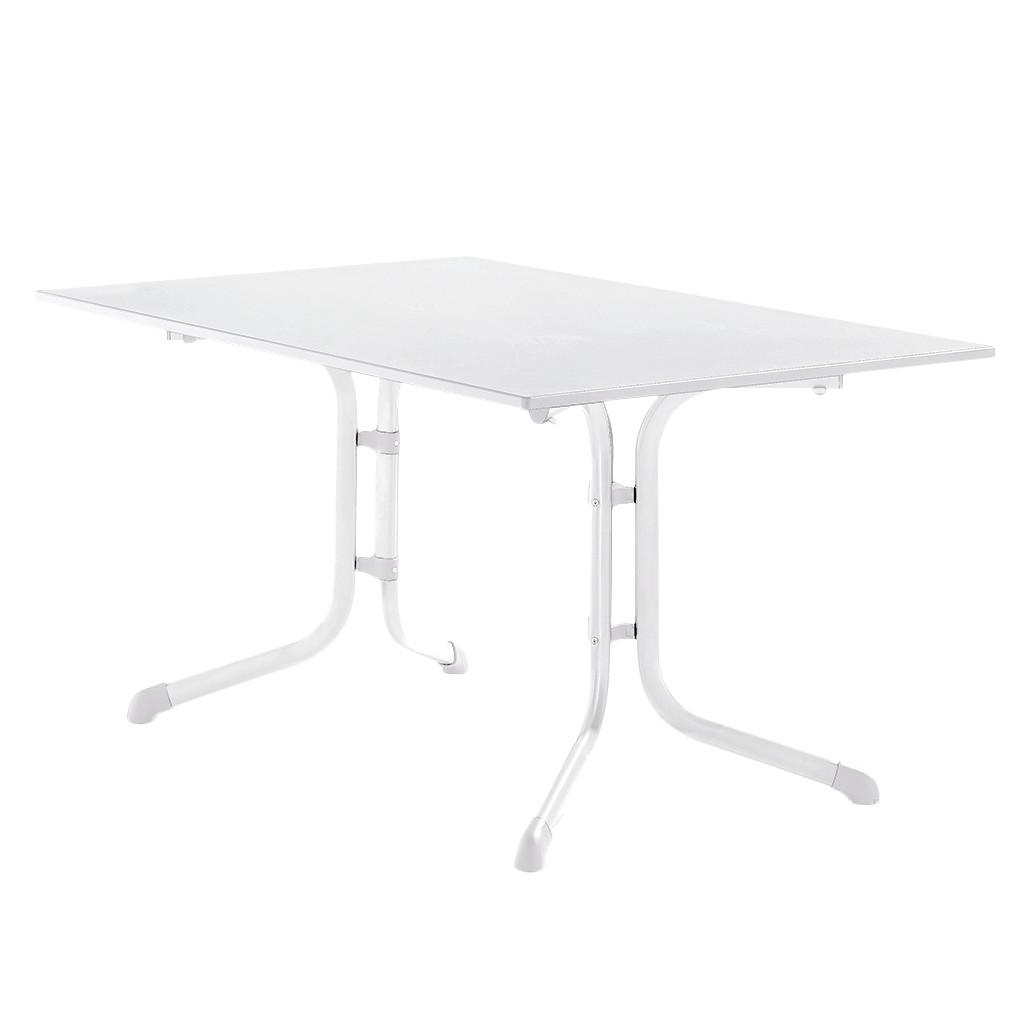 Klapptisch Luling - Weiß/Marmorweiß - 140 x 73 x 90 cm, Sieger