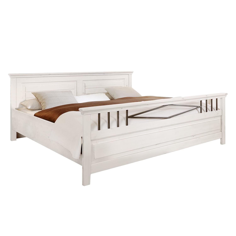 Schlafzimmerset Malta V ( 4teilig) – Kiefer massiv – Weiß, Lmie