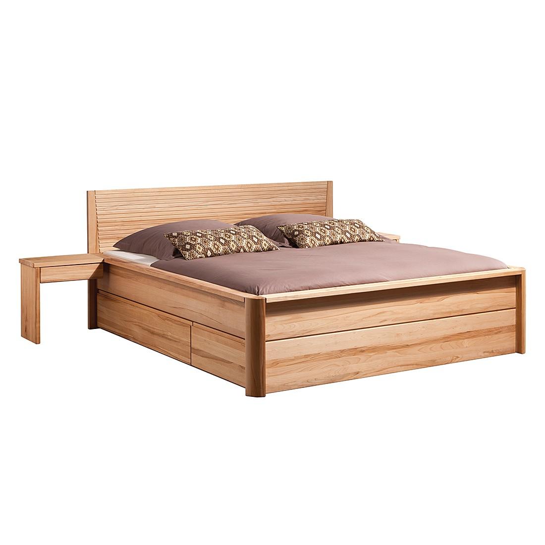 Massivholzbett Vario VIII – Kenbuche massiv – gewachst & geölt – 120 x 200cm – 1 Nachttisch – Kein Bettkasten, JABO günstig bestellen