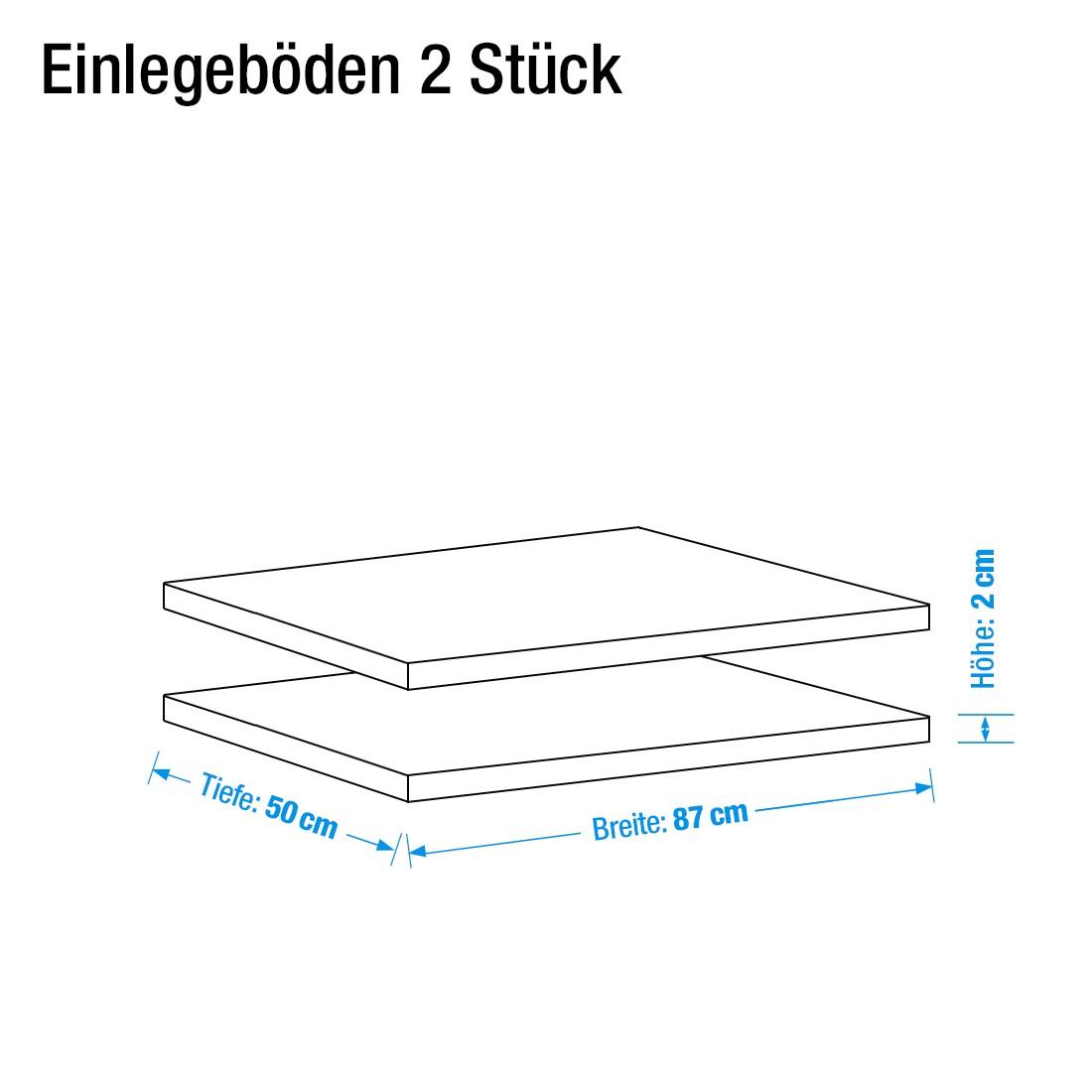 Matthias Einlegeböden - 87cm (2 Stück)