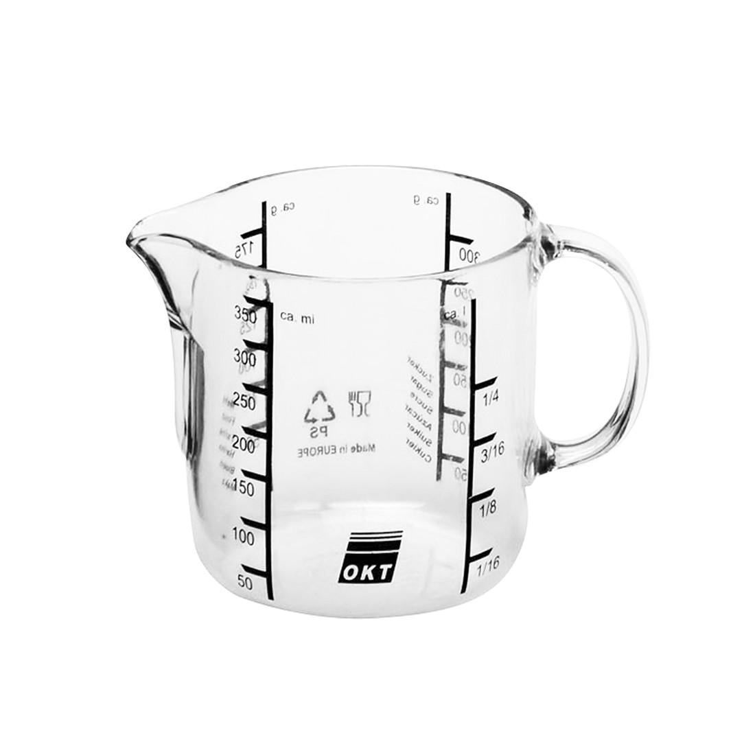 Messkanne – Polystrol Transparent – 10 cm 0,5 Liter, OKT online bestellen