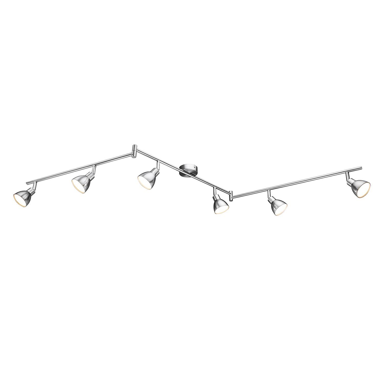 EEK A+, LED-Deckenleuchte Lester - Metall / Acrylglas - 6, Action