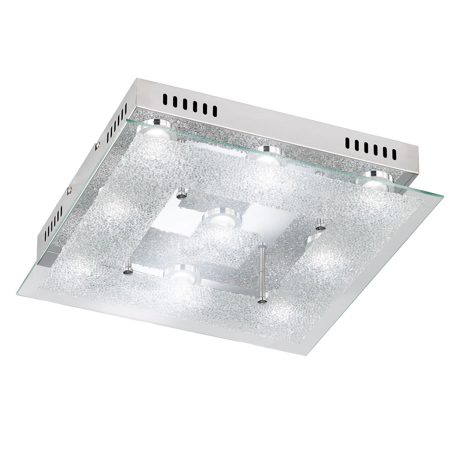 LED-Deckenleuchte Brooks ● Metall / Glas ● 9- Action A+