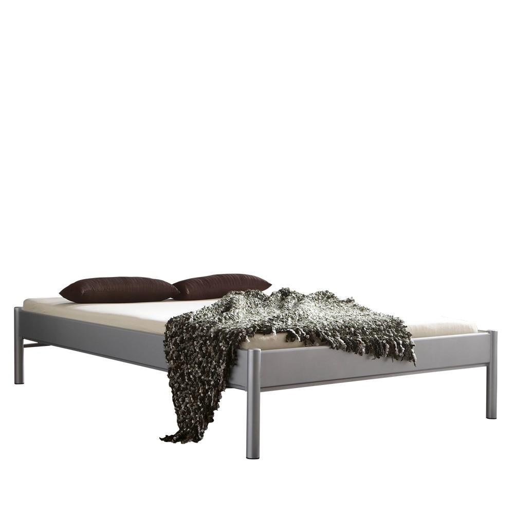 metallbett gamber silber ohne kopfteil liegefl che 160 x 200 cm bestlivinghome g nstig. Black Bedroom Furniture Sets. Home Design Ideas
