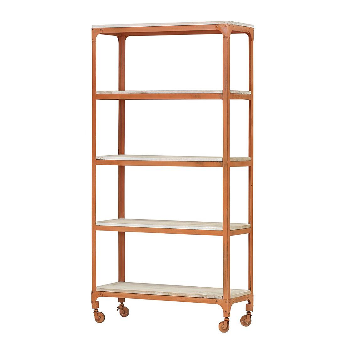 metallregal storm orange lackiert mit 5 b den. Black Bedroom Furniture Sets. Home Design Ideas