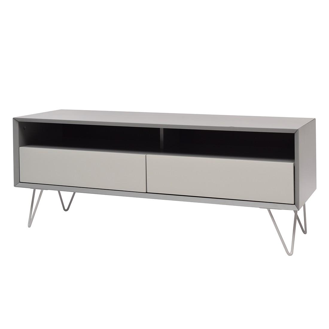 Meuble tv vintage 2 tiroirs et 1 niche mdf verni for Meuble tv gris fonce