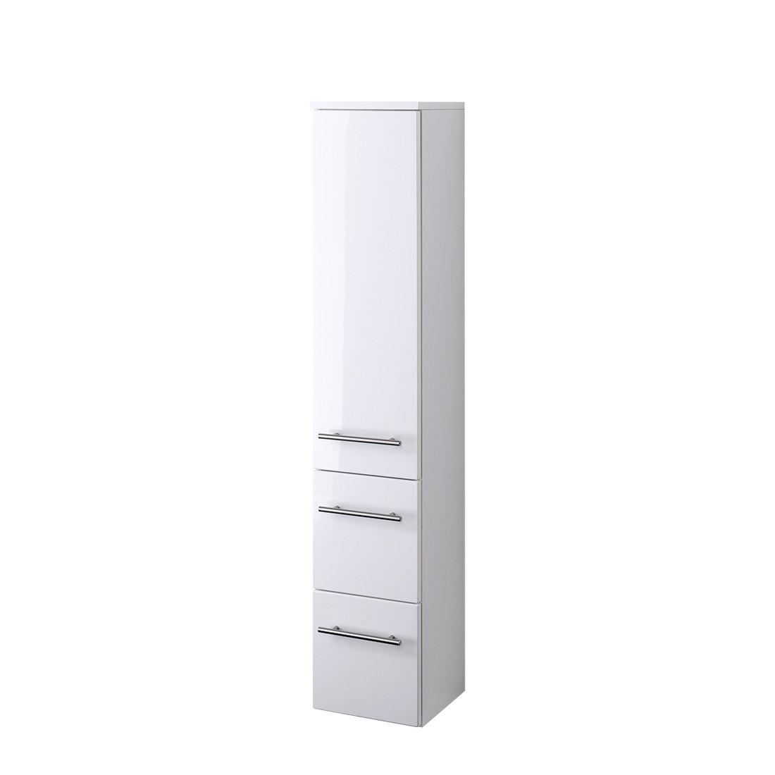 Midischrank Kopenhagen - Hochglanz Weiß/Weiß - 25 cm, Giessbach
