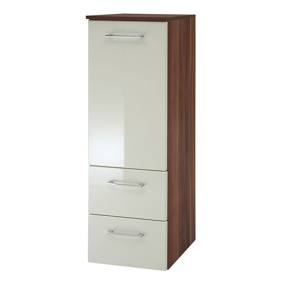 midischrank marino nussbaum dekor creme 2 t rig giessbach g nstig kaufen. Black Bedroom Furniture Sets. Home Design Ideas