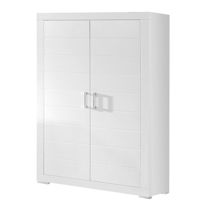 Kleiderschrank Mini 01 - Weiß (2-Türig - Höhe 185 cm)