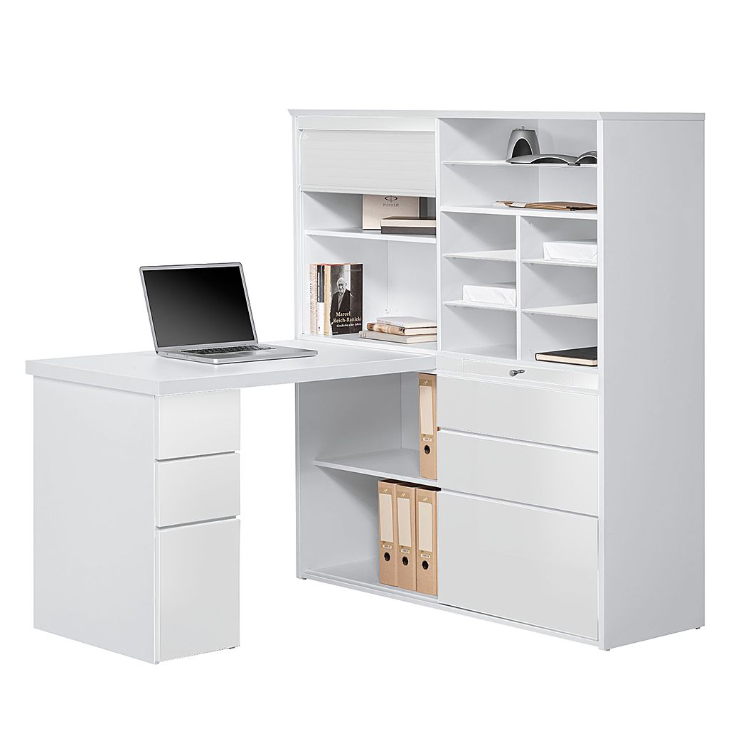mini office jale wei hochglanz wei maja m bel g nstig bestellen. Black Bedroom Furniture Sets. Home Design Ideas