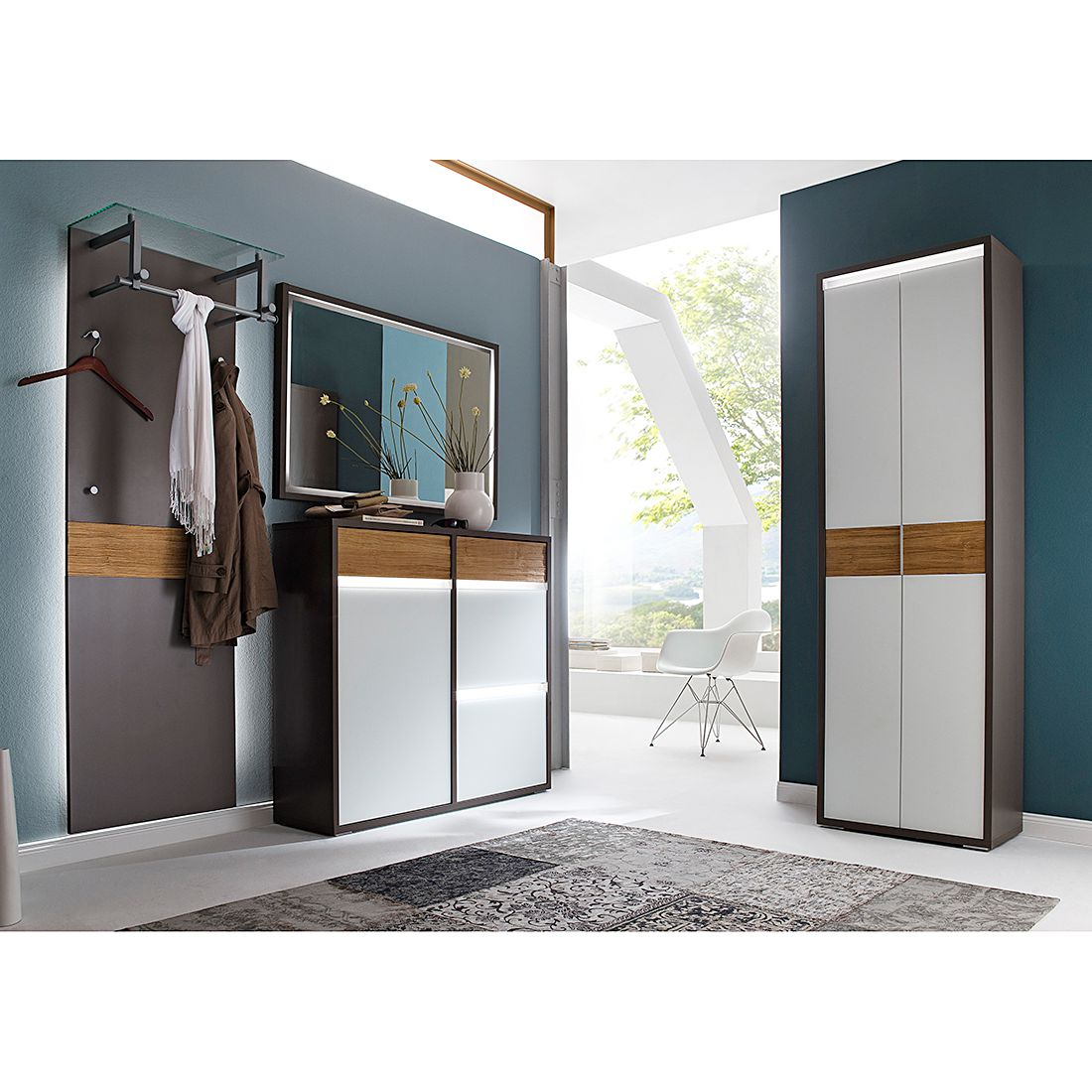 garderobe glas g nstig kaufen. Black Bedroom Furniture Sets. Home Design Ideas