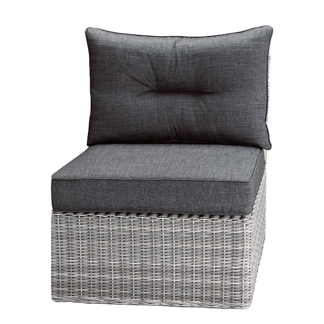 Mittelteil Lounge Bombay - Kunstfaser/Webstoff - Warm Grey/Anthrazit, Best Freizeitmöbel