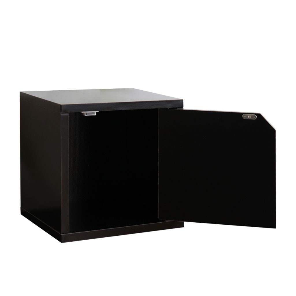 modul w rfelregal savoie schwarz drehbar mit t r 33x34x29 cm. Black Bedroom Furniture Sets. Home Design Ideas