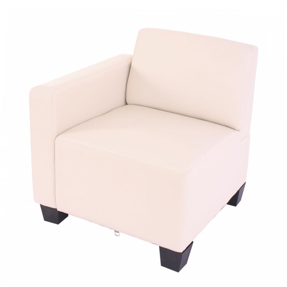Modular Sofa-System Lyon – Seitenteil links, creme, Mendler günstig