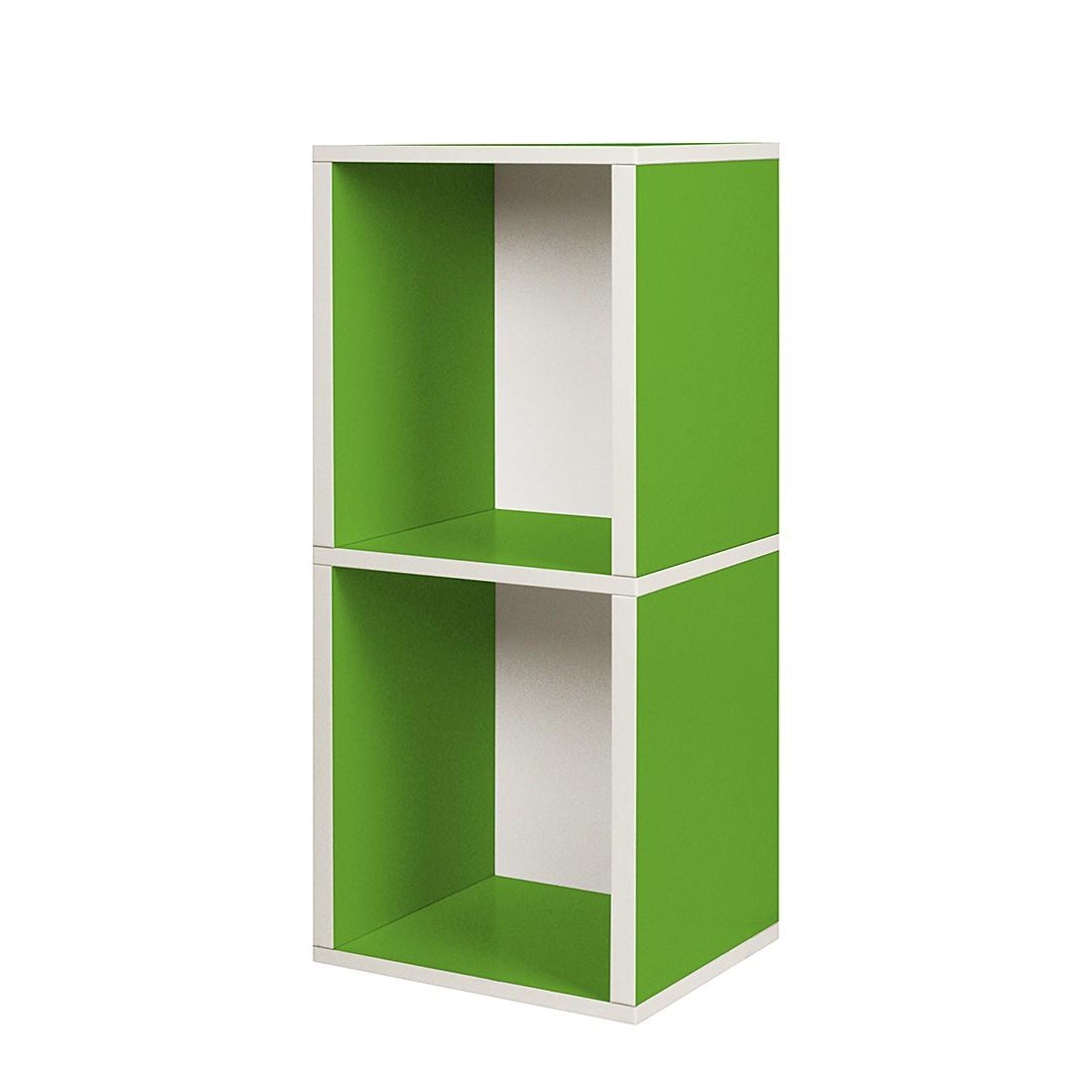 Modulares Schranksystem Cube Plus 2 Grün, waybasics online bestellen
