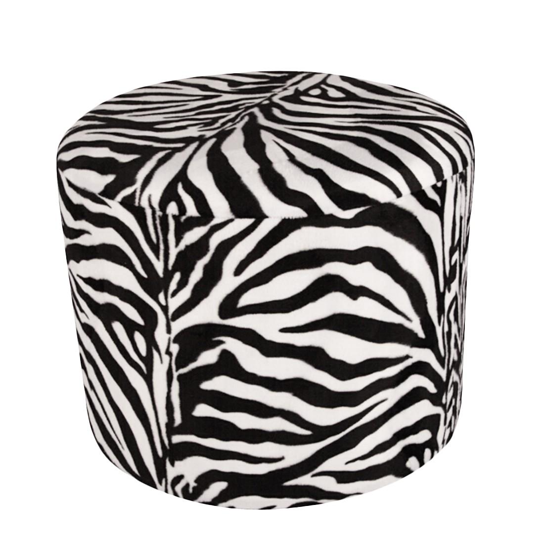 Möbelhocker Zebra Rund – 50 x 50 cm, KC-Handel günstig