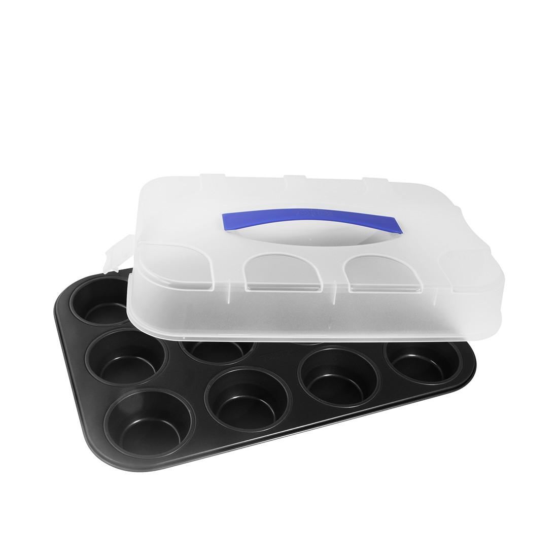 Muffin-Form 12er mit Deckel (38x26cm), Zenker günstig online kaufen