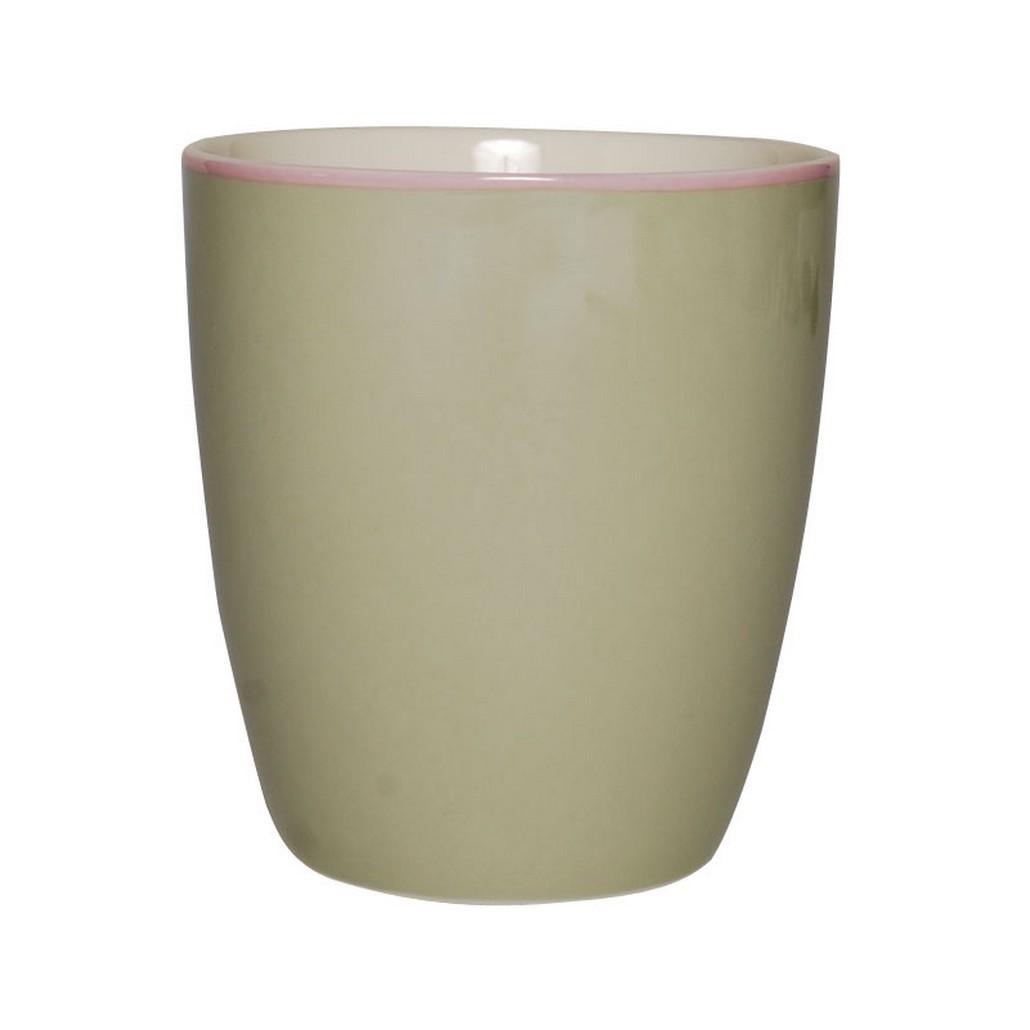 Mug – Design Solid Green – New Bone China Porzellan – Einzelfarbig Becher in Grün, Aspegren Denmark günstig