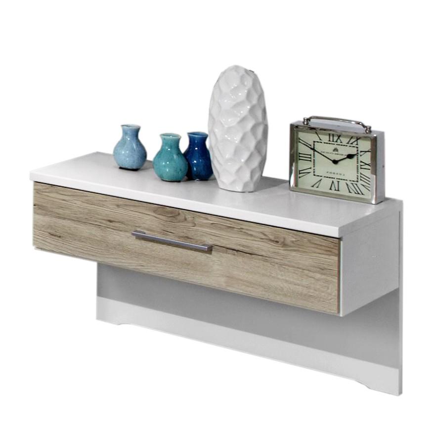 Nachtkommode Arizona (2er Set) – Alpinweiß/Santana-Eiche-Nachbildung – 44 cm x 60 cm x 38 cm, Althoff online bestellen